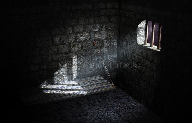 Cellule de prison illustration stock