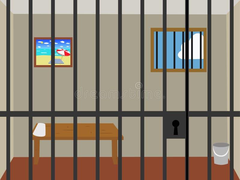 Cellule de prison. image libre de droits