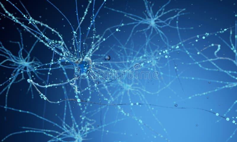 cellule del neurone 3d illustrazione di stock