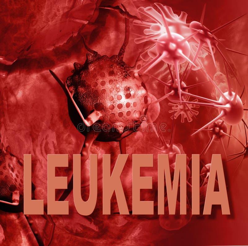 Cellule di leucemia royalty illustrazione gratis