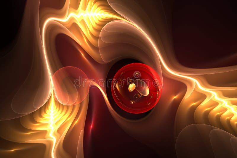 Cellule synthétique abstraite illustration de vecteur