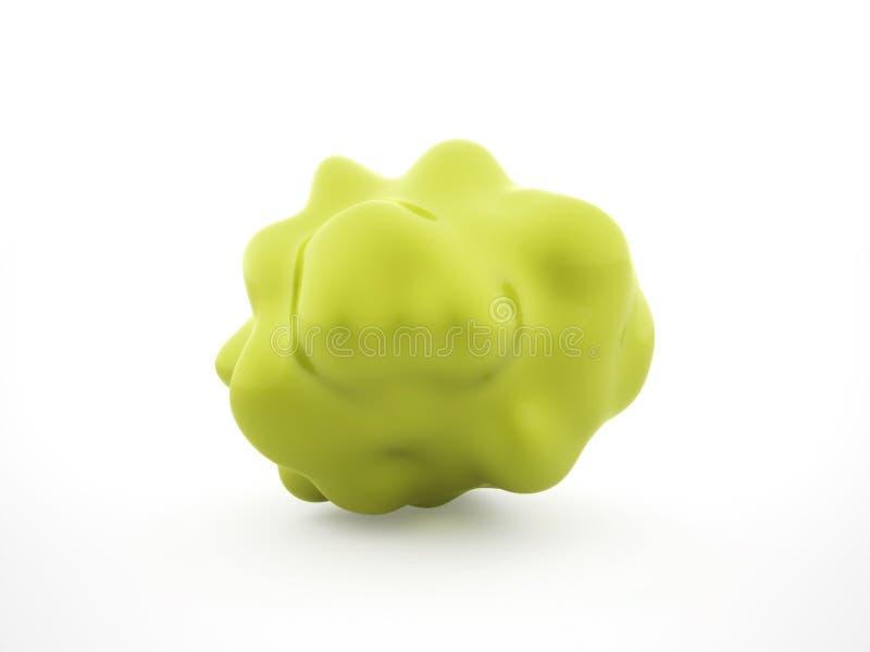 Cellule verte de bactéries d'isolement sur le blanc image libre de droits