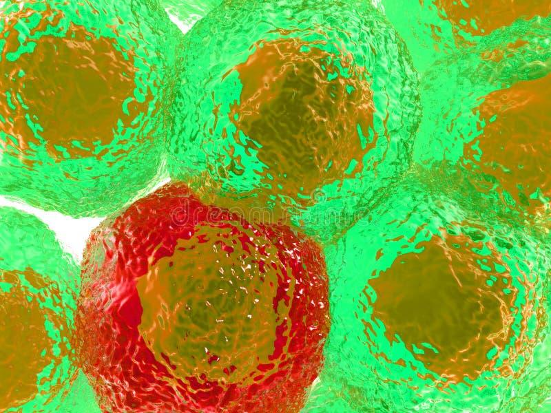 Cellules avec l'infection 2 illustration de vecteur