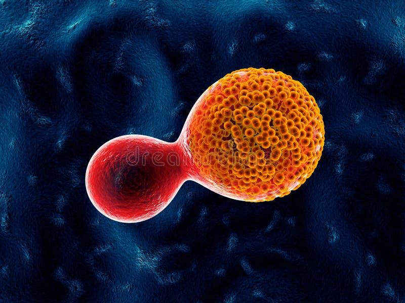 Cellules cancéreuses - illustration 3D illustration libre de droits