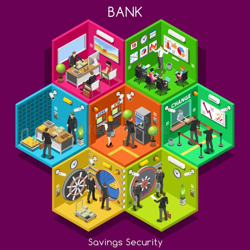 Cellules de la banque 01 isométriques illustration de vecteur