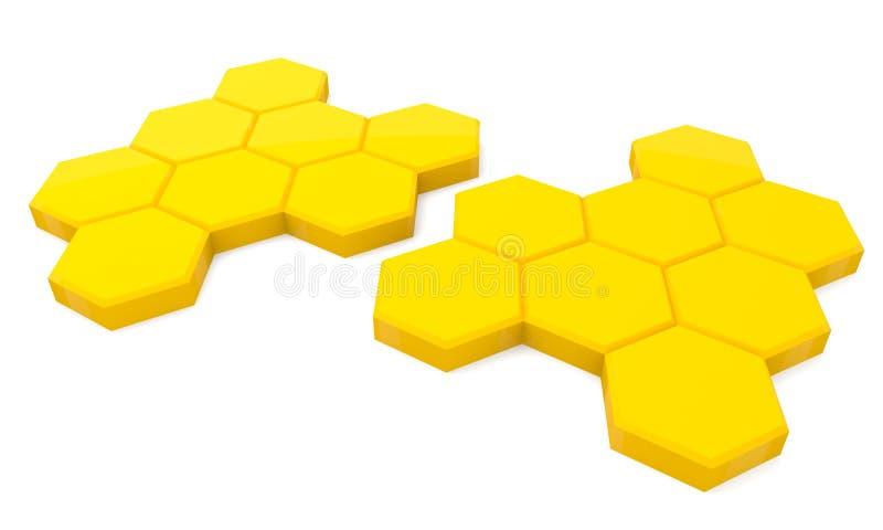 Cellules de miel illustration de vecteur