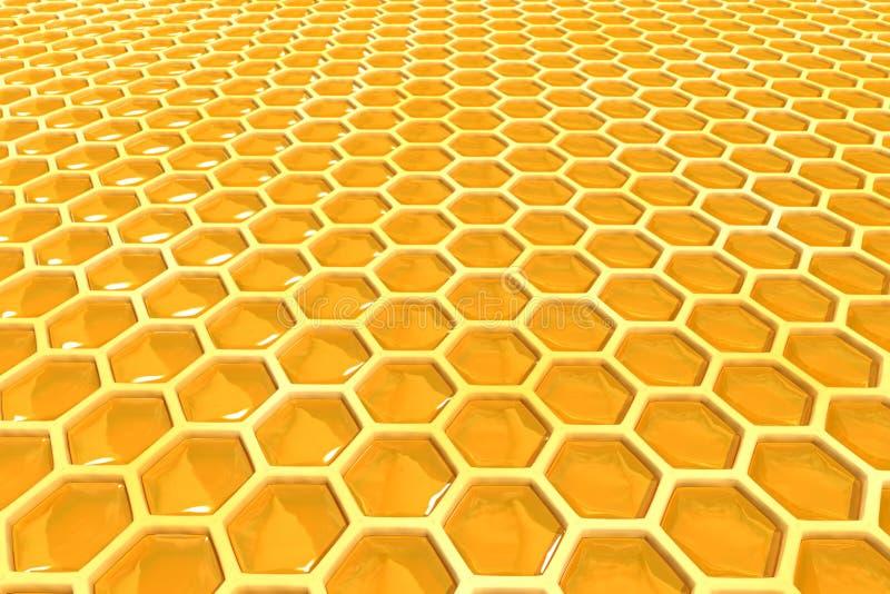 Cellules de miel photographie stock libre de droits