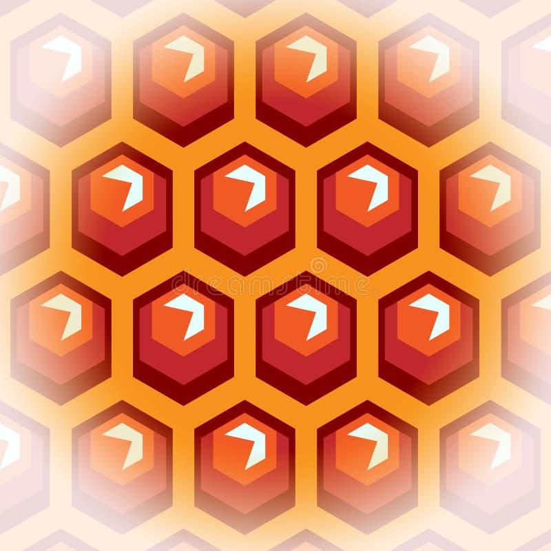 Cellules de miel d'abeille. Fond 2. illustration libre de droits