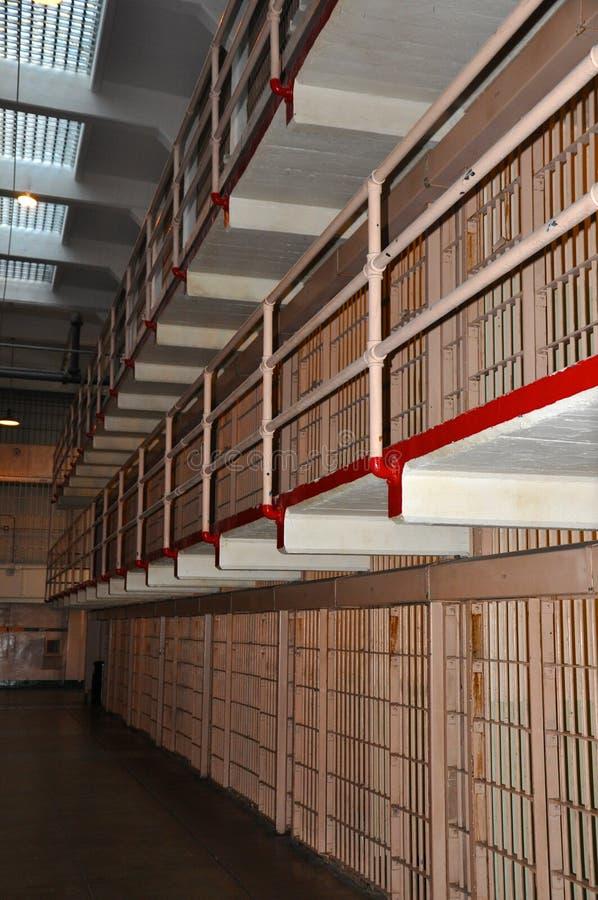 Cellules de prison d'Alcatraz photographie stock