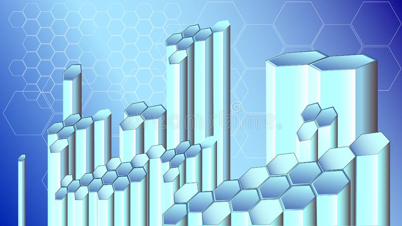 Cellules des technologies numériques illustration stock