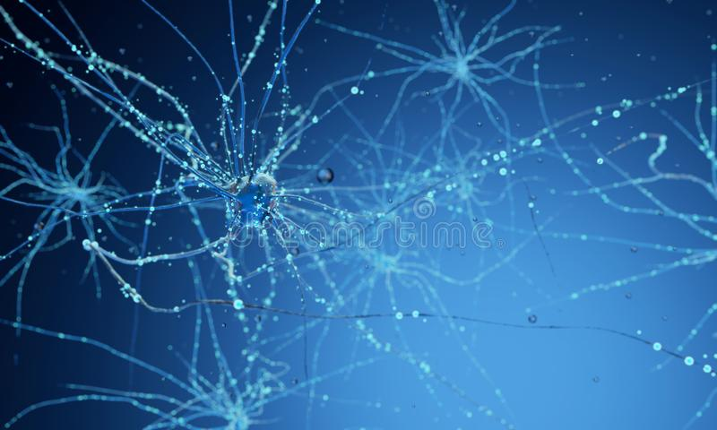 cellules du neurone 3d illustration stock