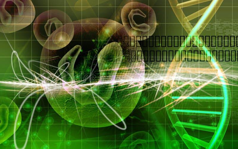 Cellules et ADN illustration libre de droits