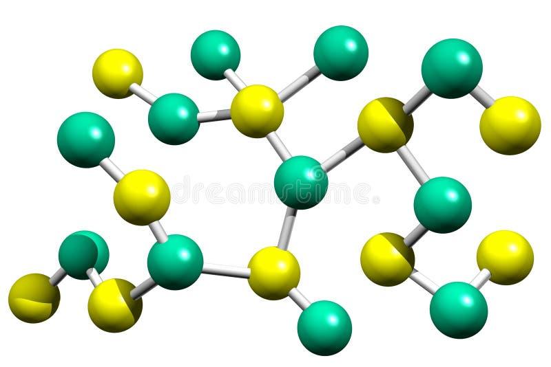 Cellules et molécules d'atomes dans la biologie illustration stock