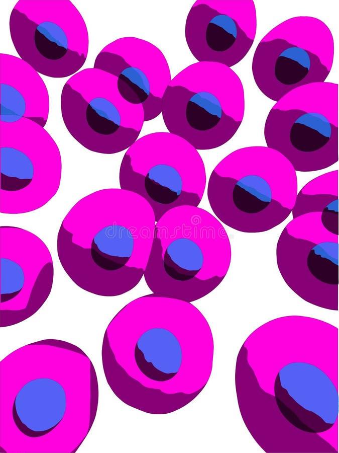 Cellules humaines illustration de vecteur
