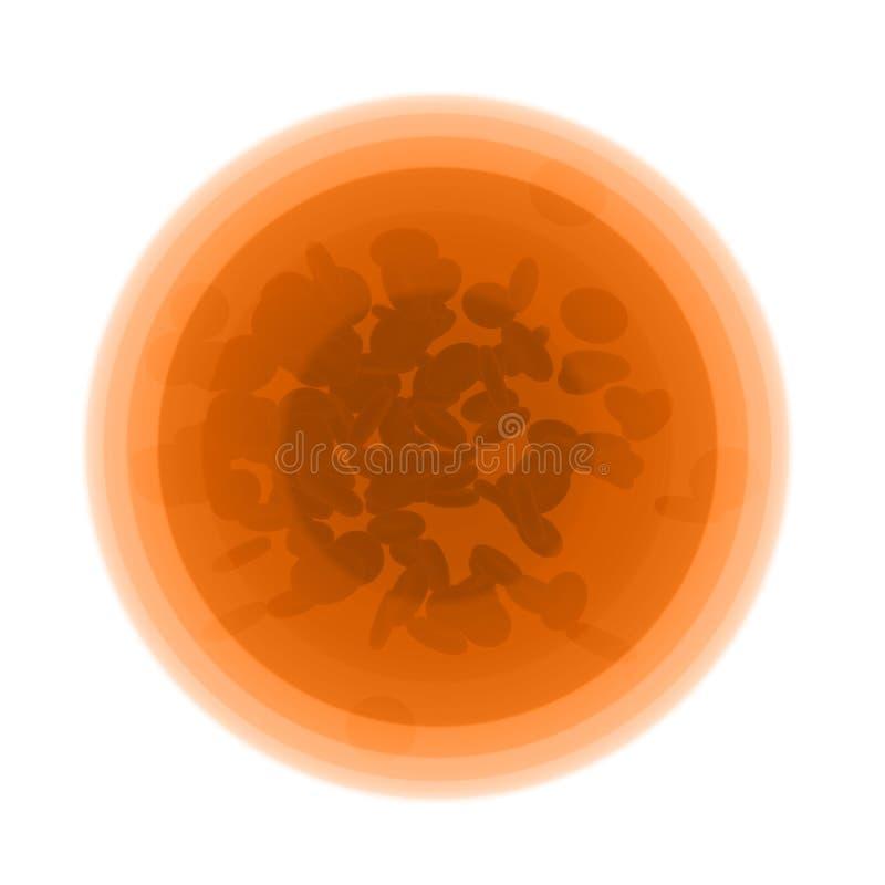 Cellules sous le microscope - illustration 3D illustration stock