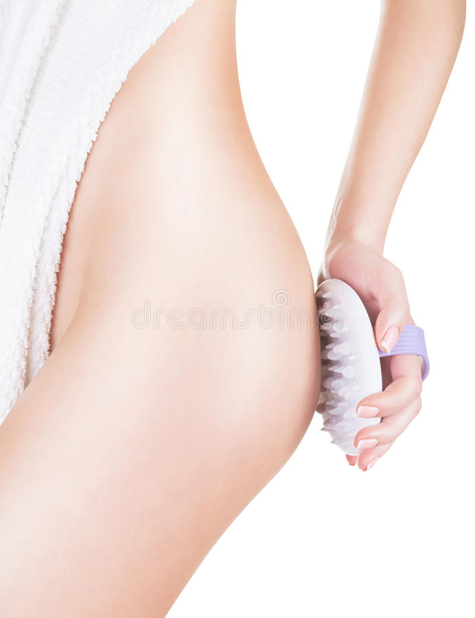 Cellulitemassage lizenzfreie stockfotos