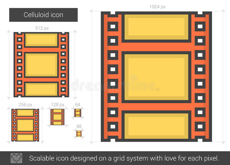 Celluloidlinje symbol stock illustrationer