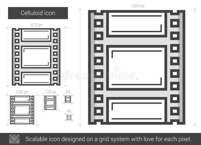 Celluloidlinje symbol vektor illustrationer