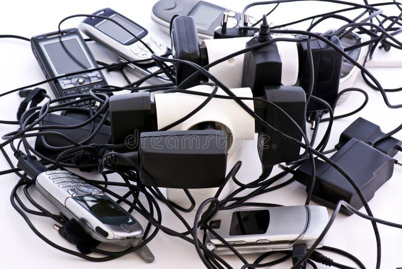 celluppladdaretelefoner royaltyfri fotografi