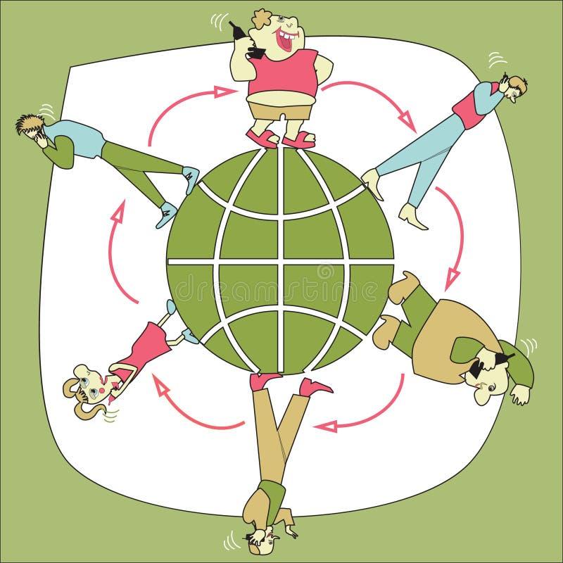 Download Cellural Relationship stock vector. Illustration of world - 9152725