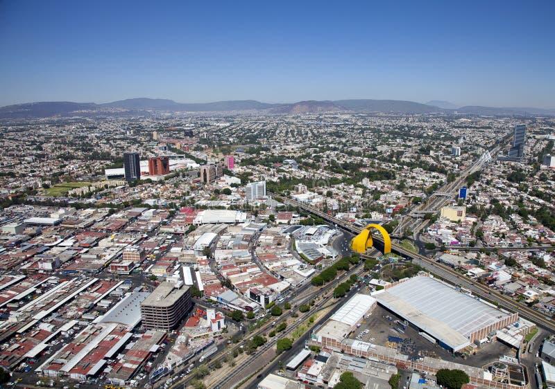 Celowniczy powietrze Guadalajara zdjęcia stock