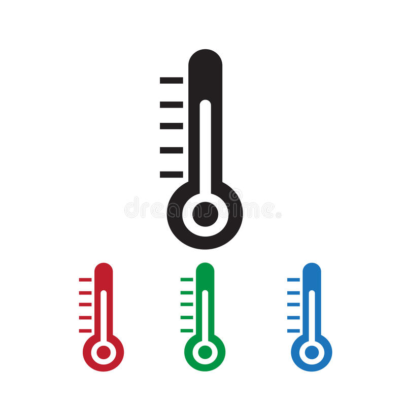 Celsius en Fahrenheit royalty-vrije illustratie