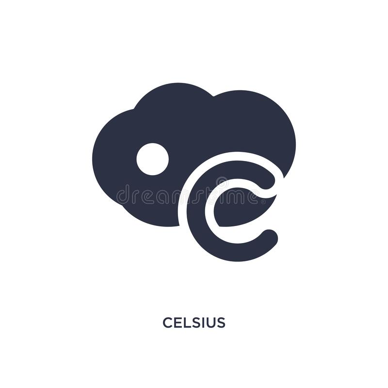 Celsius icon on white background. Simple element illustration from meteorology concept. Celsius icon. Simple element illustration from meteorology concept stock illustration