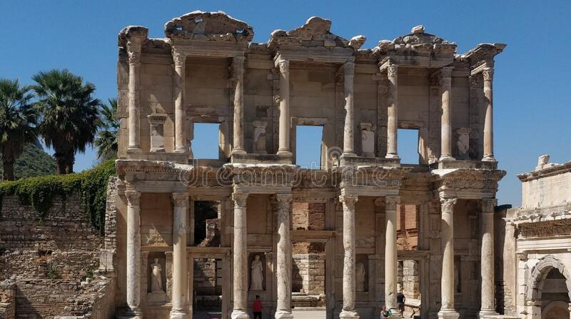 Celsius Liberary in Ephesus royalty free stock image