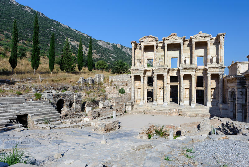Download Celsius Library At Ancient Ephesus Stock Image - Image: 19599723