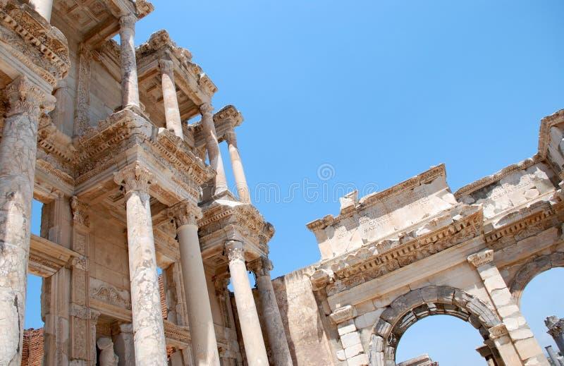 Celsiusbibliothek In Efesus Nahe Izmir, Die Türkei Stockfotografie