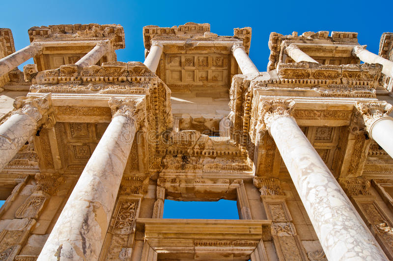 Download Celsus library stock image. Image of arheology, building - 22353975