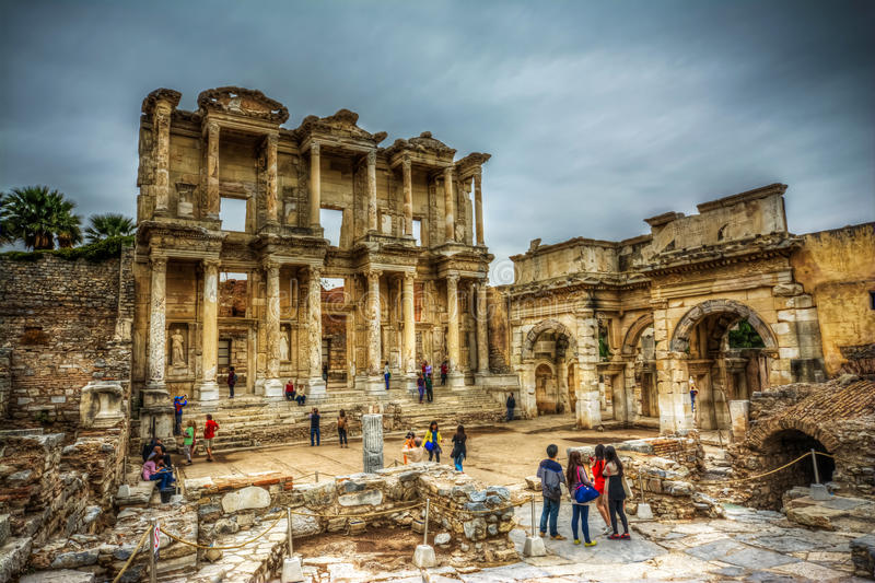 Celsus Library, Ephesus royalty free stock images