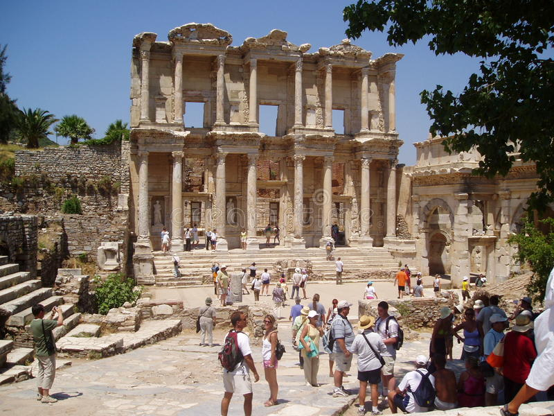 The Celsus Library Turkey stock photo
