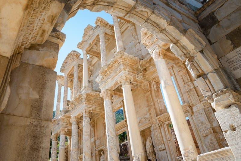 Celsusbibliotheek in Ephesus royalty-vrije stock afbeelding