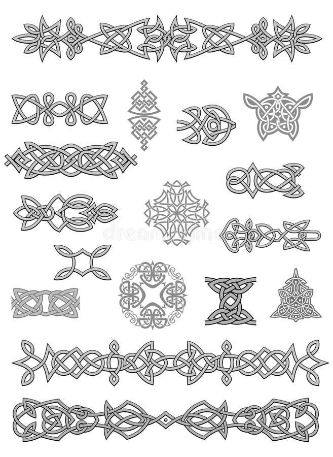 Celtów zdobienia i ornamenty royalty ilustracja