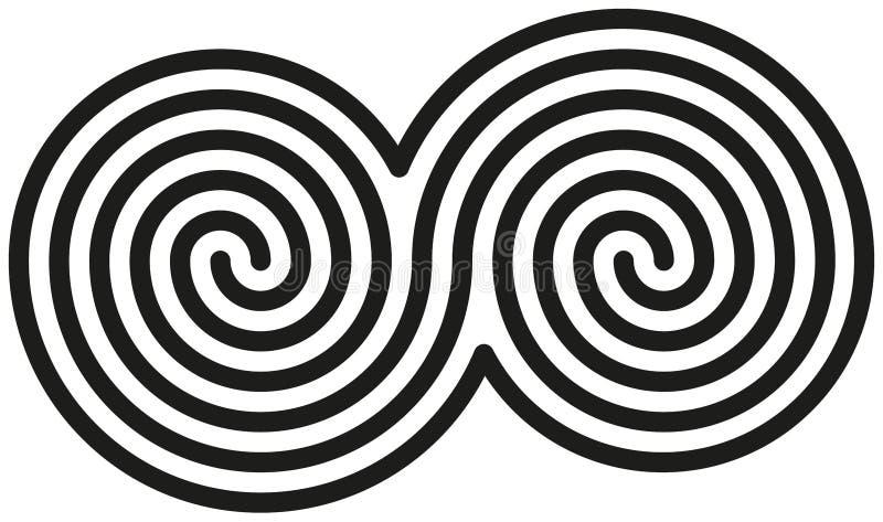 Celt kopii spirale obrazy royalty free