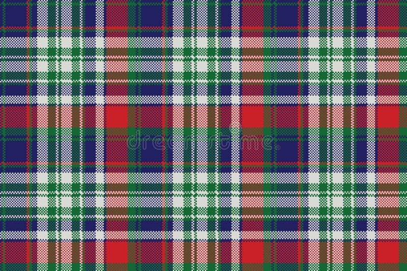 Celt pattern check fabric texture. Vector illustration stock illustration