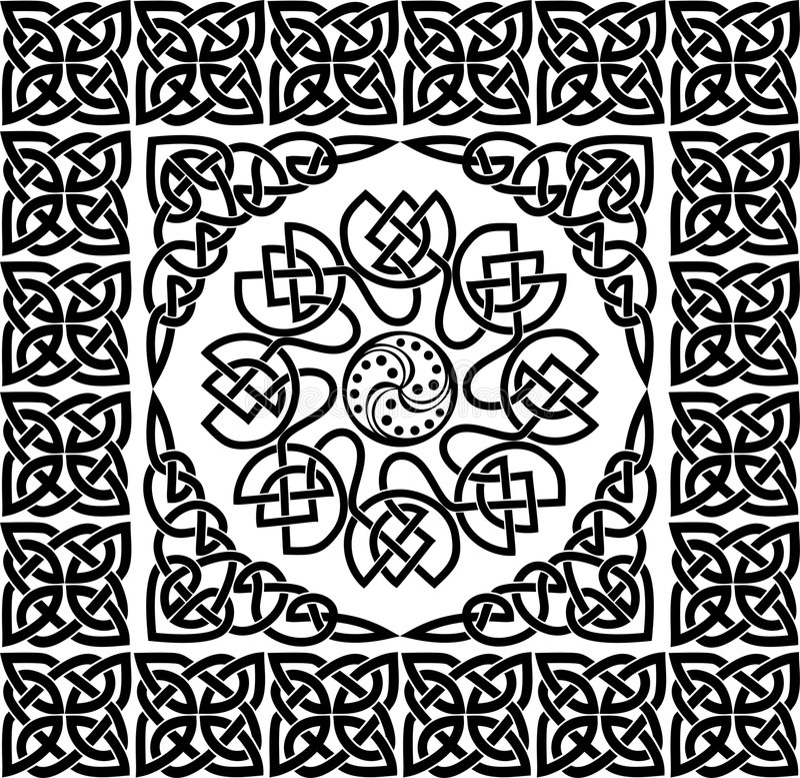 celta ornamentu wektora ilustracji