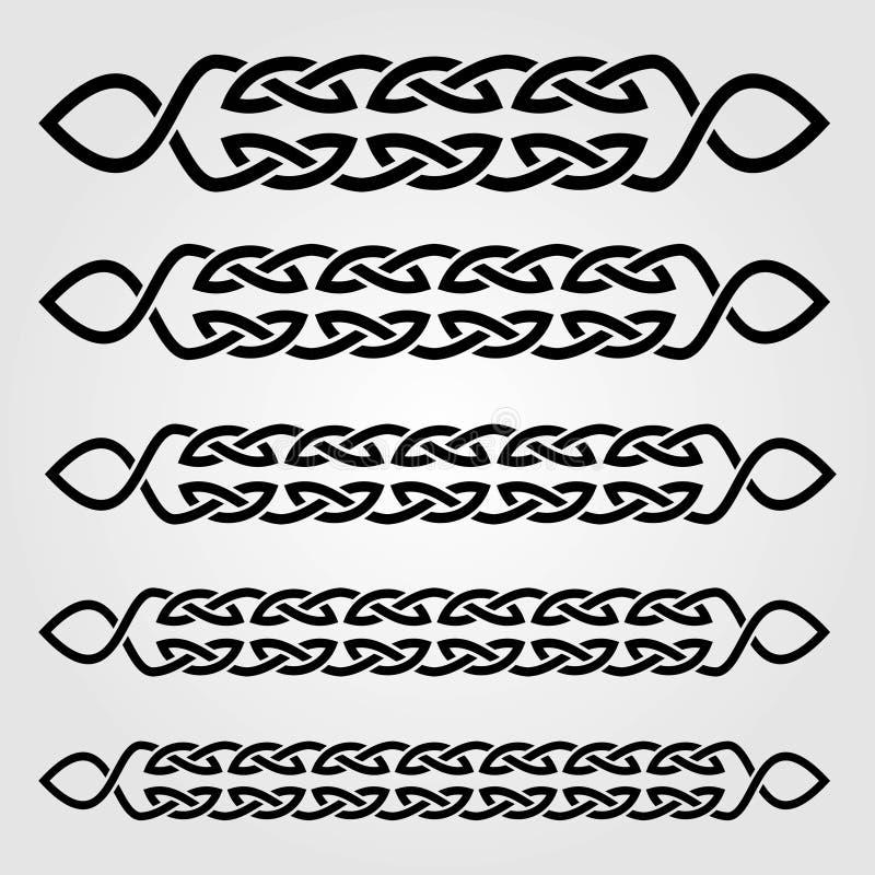 Celta stylu granica odizolowywająca na białym tle również zwrócić corel ilustracji wektora ilustracja wektor