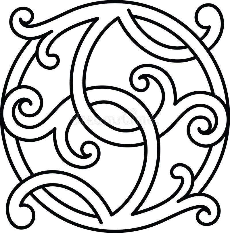 Celta wzoru ornamentu dekoracji projekta element royalty ilustracja