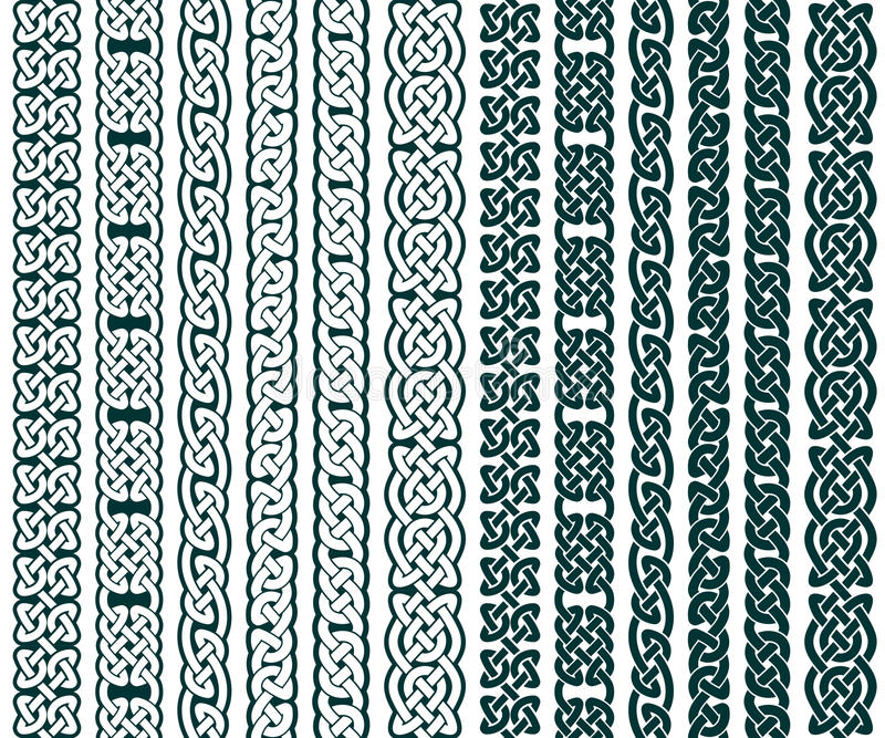 Celtic делает по образцу собрание иллюстрация вектора