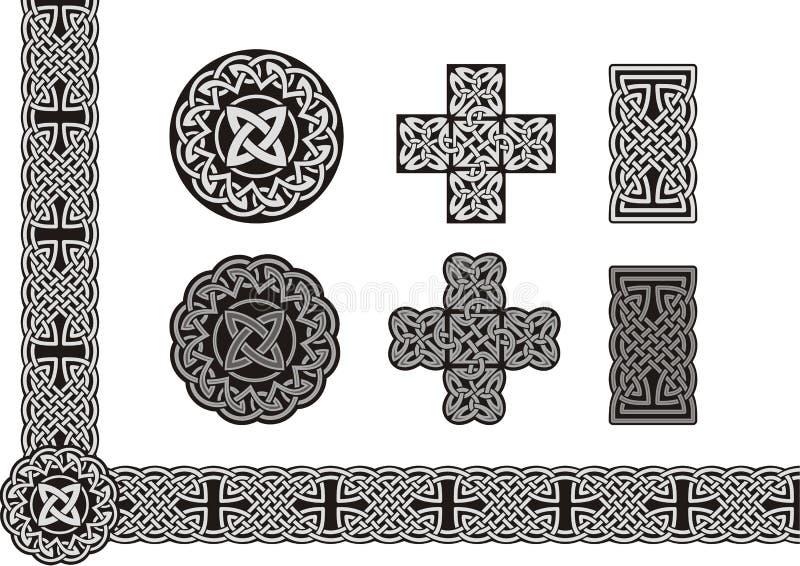 Celtic art. Celtic tied knot art element stock illustration