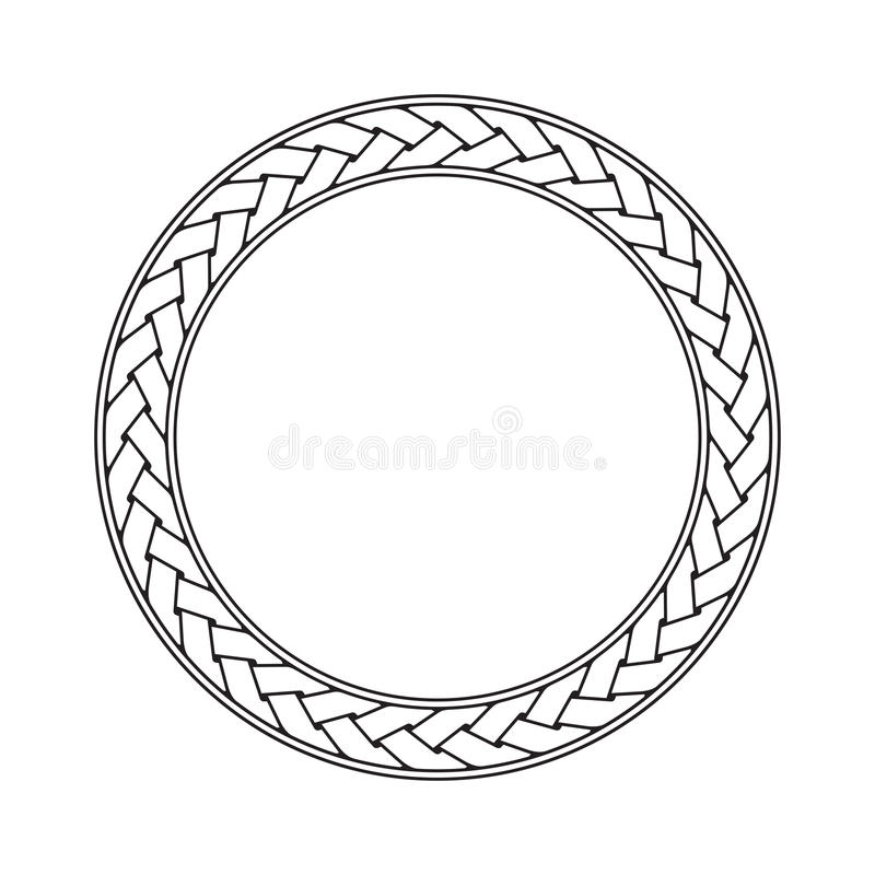 Celtic braid circular frame vector ornament royalty free illustration