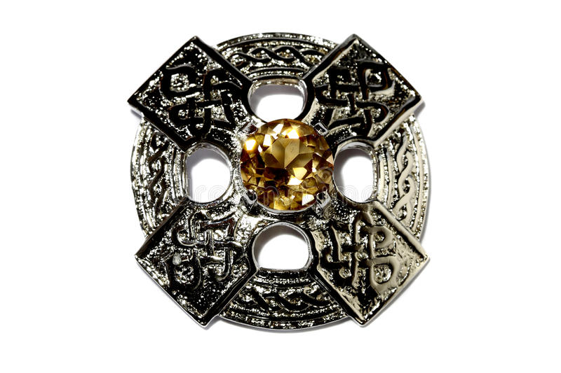 Celtic brooch A royalty free stock photography