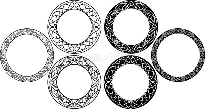 Celtic circle set royalty free illustration