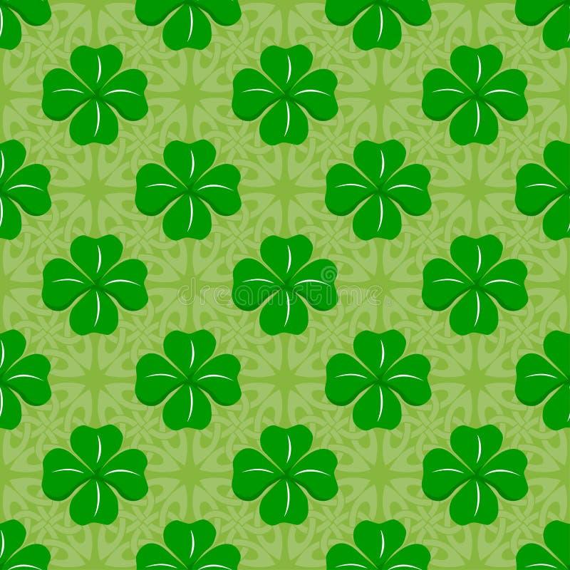 Celtic clover pattern royalty free illustration