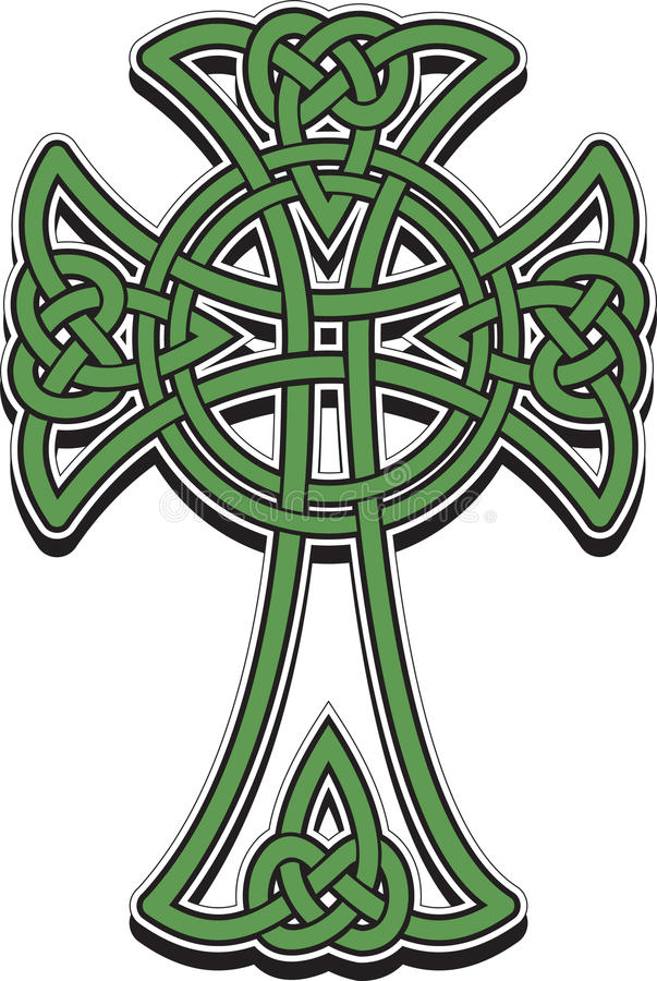 Celtic cross. The Celtic cross from the intertwined lines