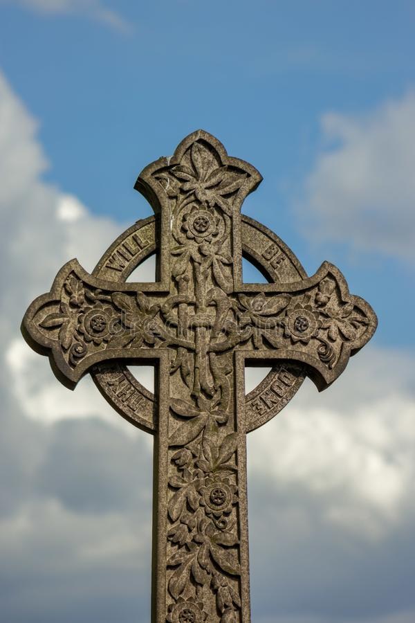 Celtic Cross against the sky royalty free stock images