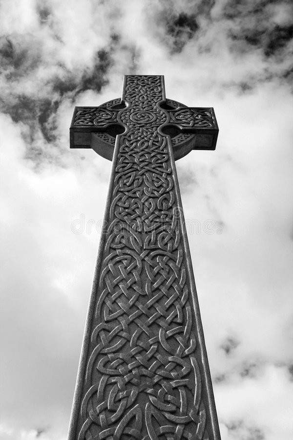Download Celtic Cross In Black And White / Infrared Stock Photo - Image: 9251420