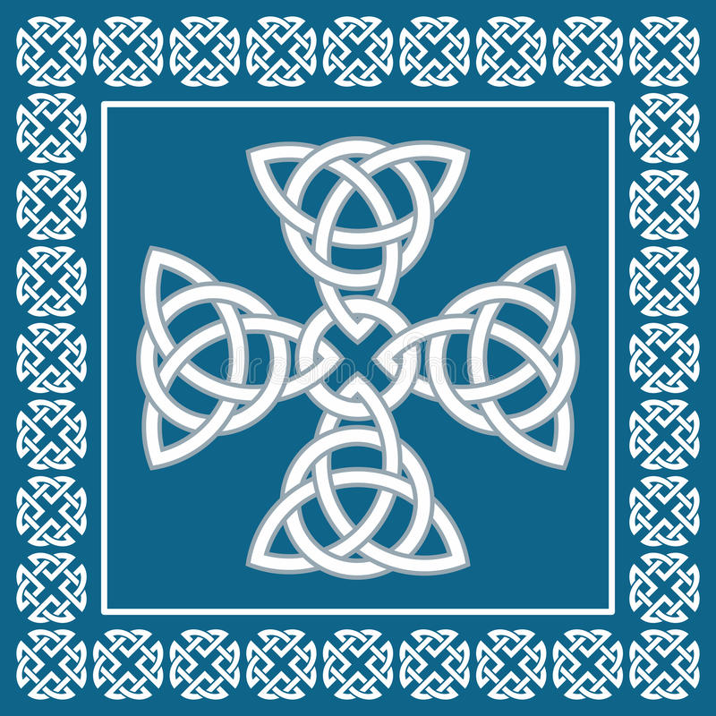 Celtic cross ornament,symbolizes eternity,vector illustration stock illustration